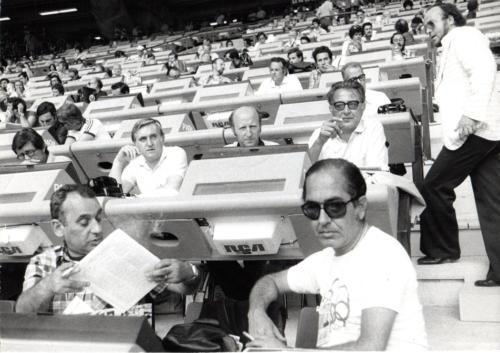 2 - Giochi di Montreal '76, settore italiano tribuna stampa