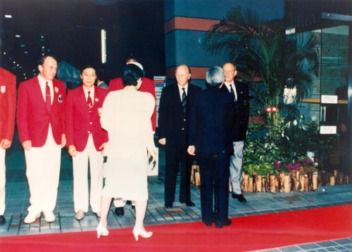 8 -Tokyo, Mondiali 1991, imperatore Akihito e imperatrice Michiko